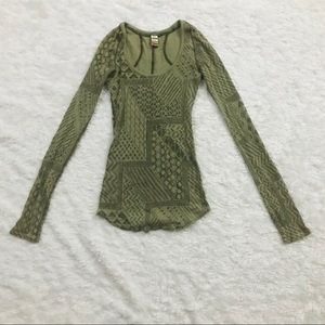 Free People Abstract Print Thermal Green